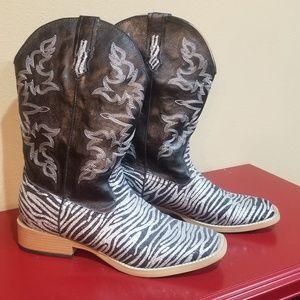 ROPER Black & Silver Zebra Boots